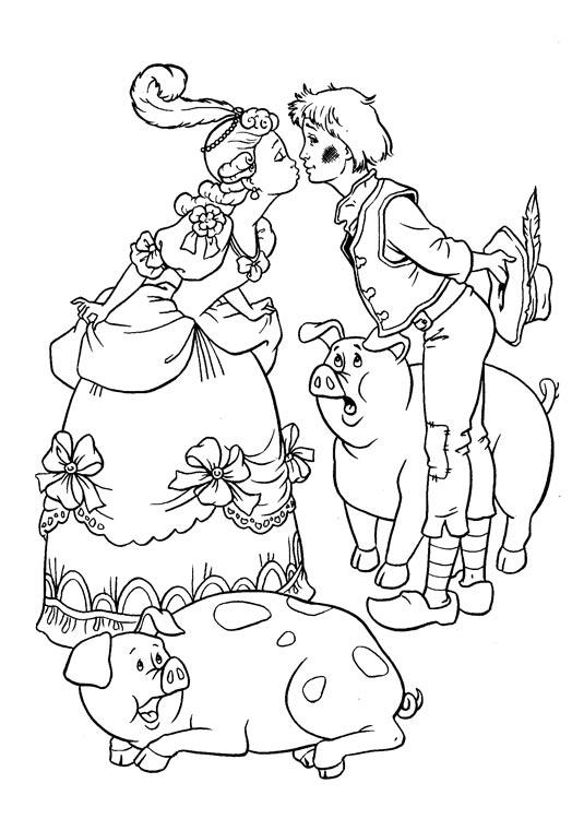 свинопас раскраска распечатать