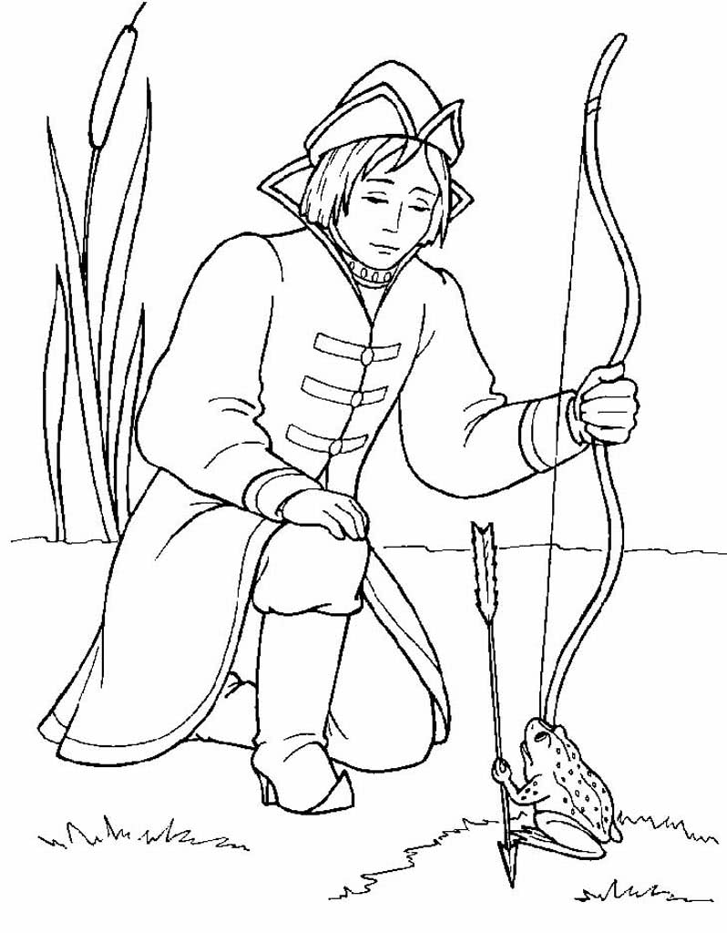 картинки для раскраски царевна лягушка доски