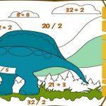математические раскраски 3 класс