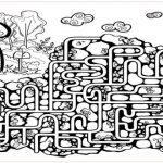 Раскраска лабиринт для детей распечатать