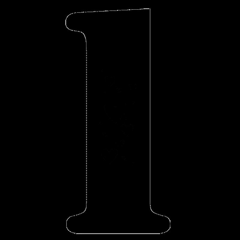 цифра 1 шаблон трафарет для вырезания из бумаги распечатать