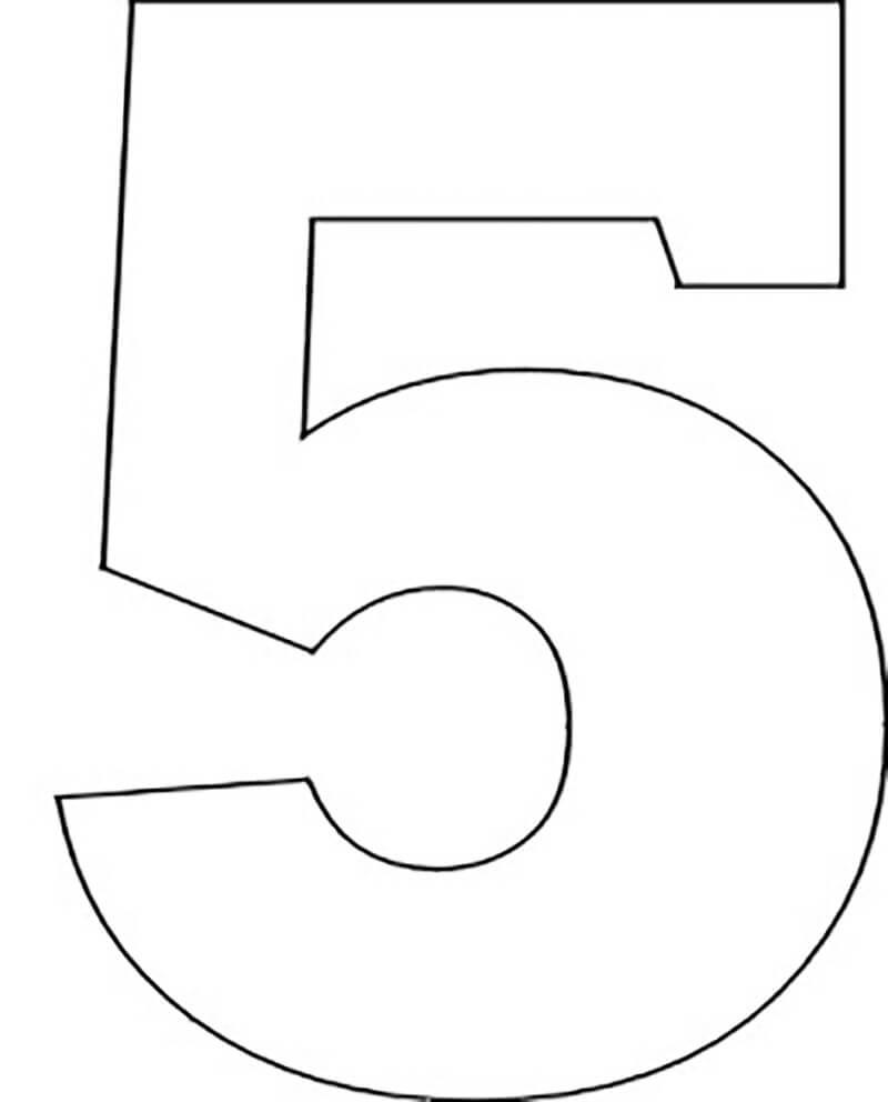цифра 5 шаблон трафарет для вырезания из бумаги распечатать