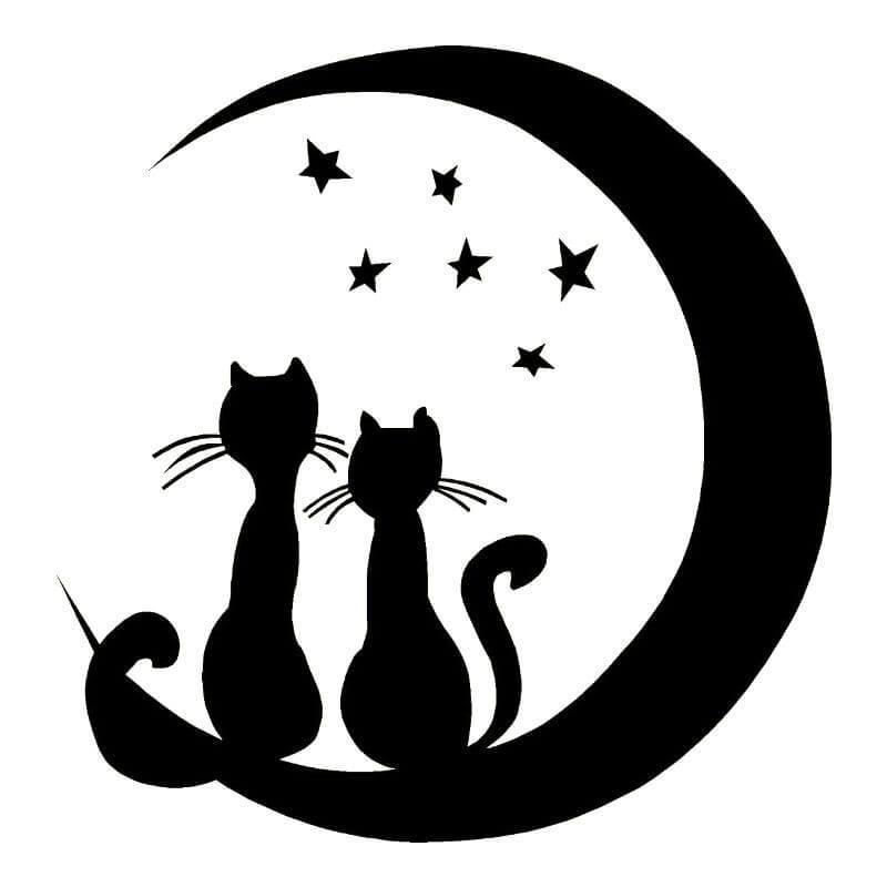 шаблон черной кошки трафарет распечатать