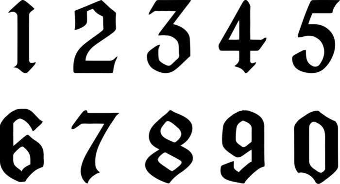 трафарет цифр от 1 до 10 шаблон распечатать