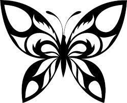 шаблон бабочки из фоамирана трафарет распечатать