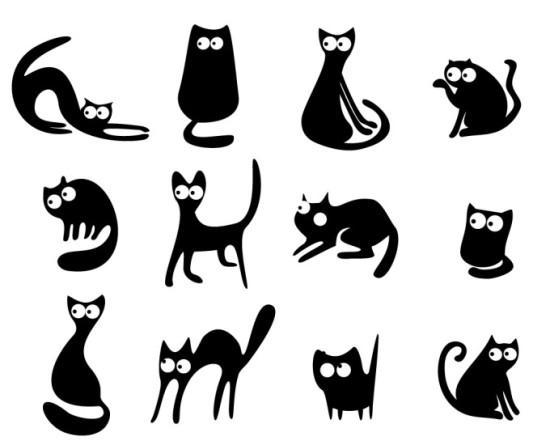 кошки из бумаги своими руками шаблоны трафарет распечатать