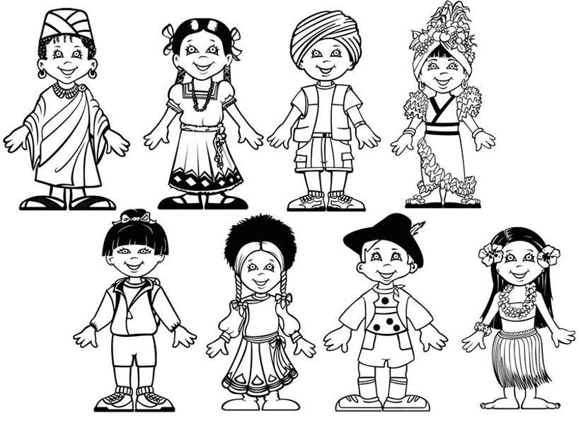 раскраска международный день защиты детей распечатать