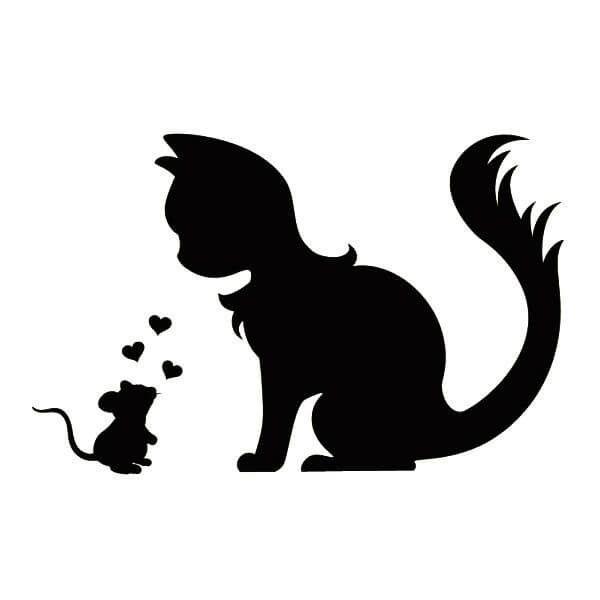 картинка кошки шаблон трафарет распечатать