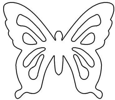 шаблон бабочки трафарет распечатать