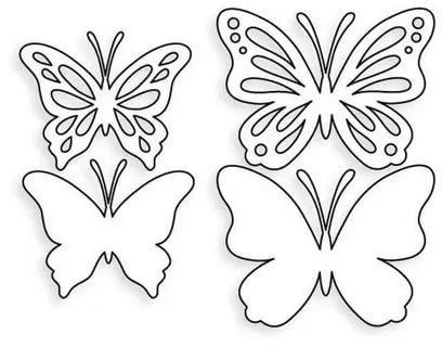 бабочка вытынанка шаблон