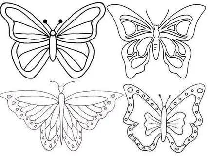 шаблоны разных бабочек трафареты