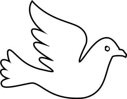 шаблоны голубей на окна трафарет распечатать