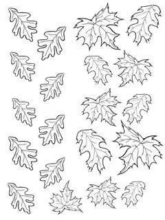 трафареты шаблоны листьев для вырезания из бумаги распечатать