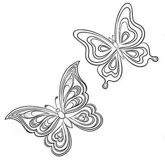шаблоны трафаретов для стен бабочки распечатать