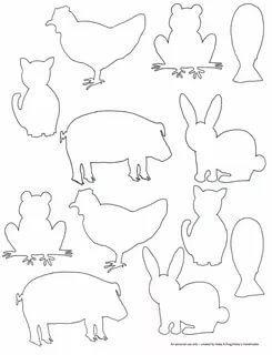 животные из бумаги своими руками шаблоны трафарет распечатать