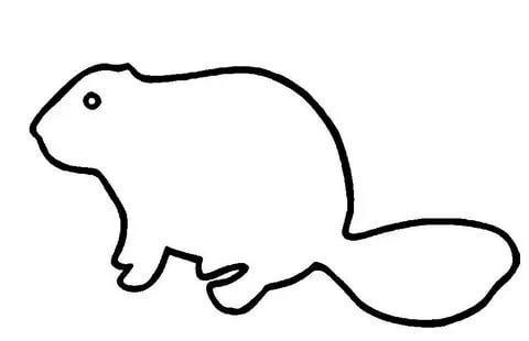 бобр шаблоны животных для вырезания из бумаги трафарет