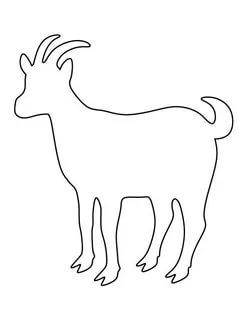 коза шаблоны животных для вырезания из бумаги трафарет
