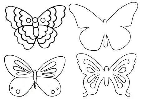 бабочка шаблон для вырезания трафарет распечатать
