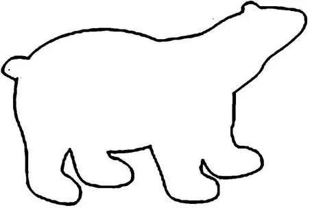 шаблоны животных белый медведь для вырезания из бумаги распечатать