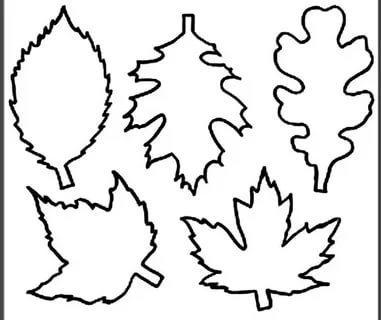 листья шаблоны для вырезания трафарет распечатать
