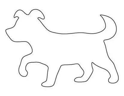 собака шаблоны животных для вырезания из бумаги трафарет