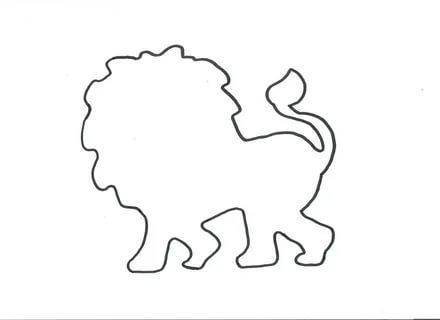 лев шаблоны животных для вырезания из бумаги трафарет
