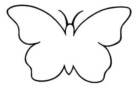 бабочка из фетра шаблоны трафарет распечатать