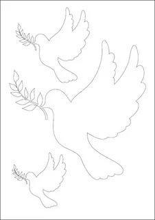 трафарет голубя для вырезания из бумаги шаблоны распечатать