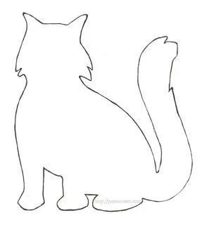 кот шаблоны животных для вырезания из бумаги трафарет