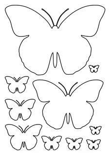 бабочки из бумаги шаблоны трафарет распечатать