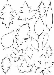шаблоны листьев из бумаги трафарет распечатать