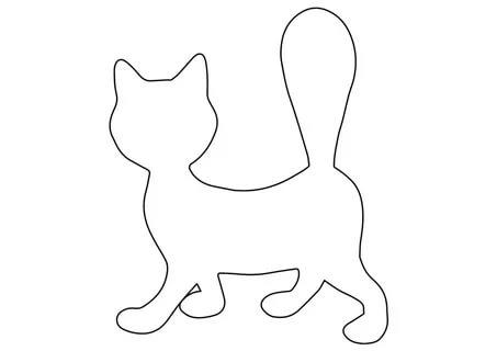 шаблон кошки для вырезания из бумаги распечатать трафарет