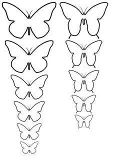шаблон бабочки для вырезания из бумаги трафарет распечатать