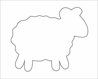 шаблоны домашних животных овечка  распечатать трафарет