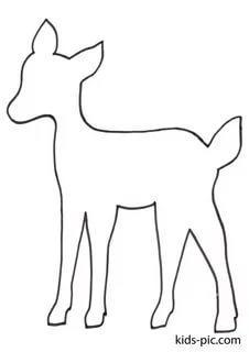 животные из фетра шаблоны олененок трафарет распечатать