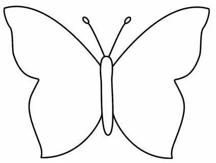 шаблон бабочки для вырезания распечатать