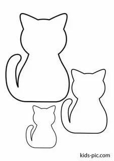 кошка шаблон детям трафарет распечатать