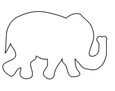 животные трафареты шаблоны слон распечатать