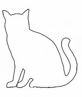 шаблон кошки для аппликации трафарет распечатать