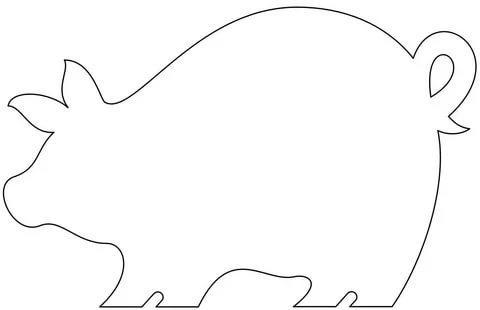 шаблоны животных для аппликации поросенок свинья распечатать