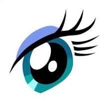 шаблоны аниме глаз трафарет распечатать