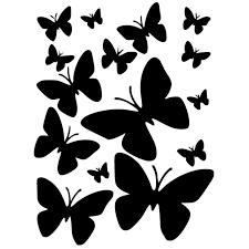 шаблон бабочки а4 трафарет распечатать
