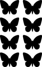 шаблоны бабочек для вырезания на стену  распечатать