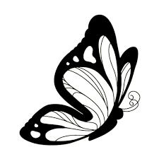 шаблон маленькой бабочки