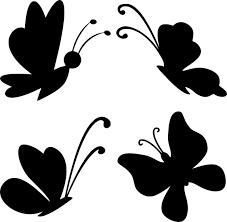 шаблон бабочки для аппликации трафарет  распечатать