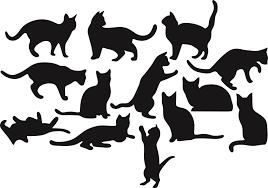 шаблоны кошек для вырезания распечатать трафареты