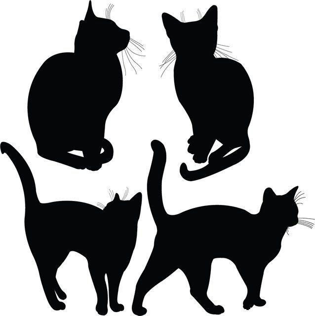 шаблон кошки для броши трафарет распечатать