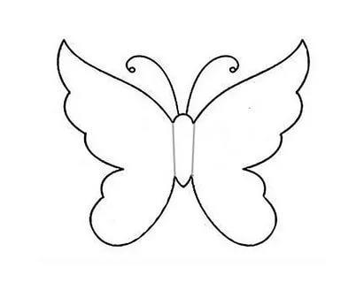 схема бабочки шаблоны трафарет распечатать
