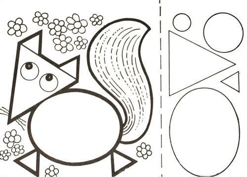 лиса аппликация из бумаги для детей шаблоны распечатать трафарет
