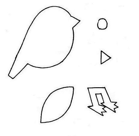 шаблон птицы для аппликации распечатать
